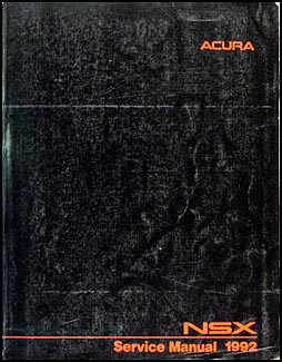 1992 Acura NSX Repair Manual Original