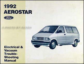 1992 Ford Aerostar Electrical and Vacuum Troubleshooting Manual