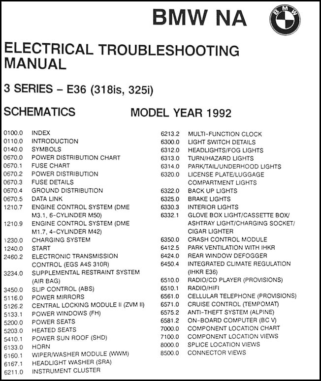 1992 bmw 318is 325i electrical troubleshooting manual  1991 1992 bmw 318is 325i electrical