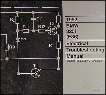 1992 BMW 325i 4-Door Electrical Troubleshooting Manual Original