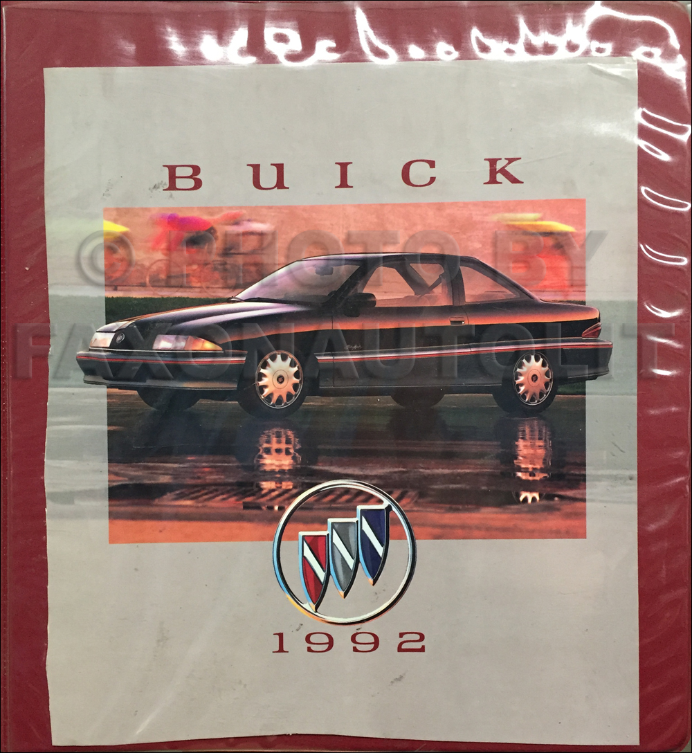 1992 Buick Press Portfolio With Photos Original