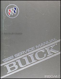 1992 Buick Regal Shop Manual Original