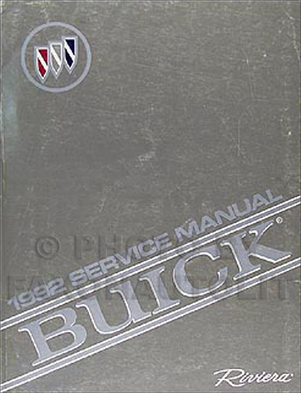 1992 Buick Riviera Shop Manual Original