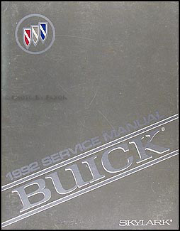 1992 Buick Skylark Shop Manual Original