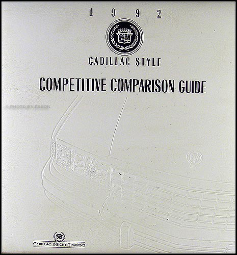 1992 Cadillac Competitive Comparison Guide Dealer Album Original