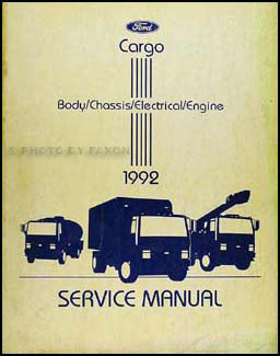 1992 Ford Cargo Repair Manual Original