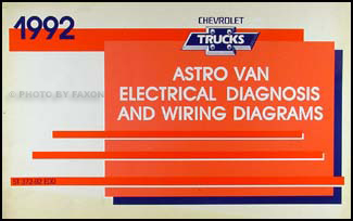 1992 Chevy Astro Van Wiring Diagram Manual Original