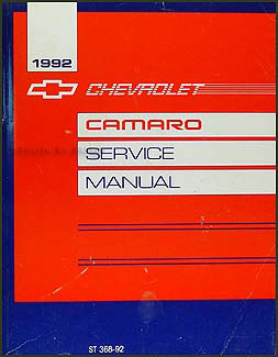 1992 Chevy Camaro Repair Manual Original