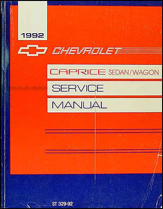 1992 Chevy Caprice Repair Manual Original