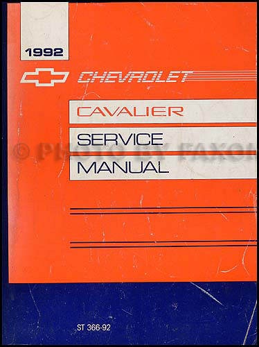 1992 Chevy Cavalier Repair Manual Original