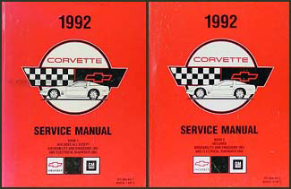 1992 Corvette Shop Manual Original