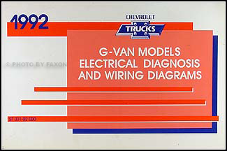 1992 Chevy G Van Wiring Diagram Manual Original