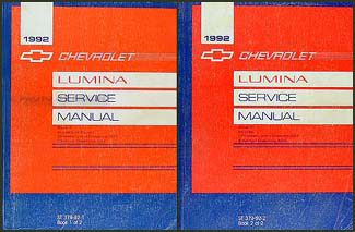 1992 Chevy Lumina Car Repair Manual Original 2 Volume Set