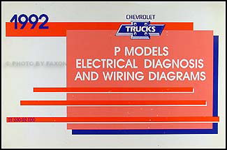 1992 Chevrolet P Motorhome and Forward Control Wiring Diagram Manual