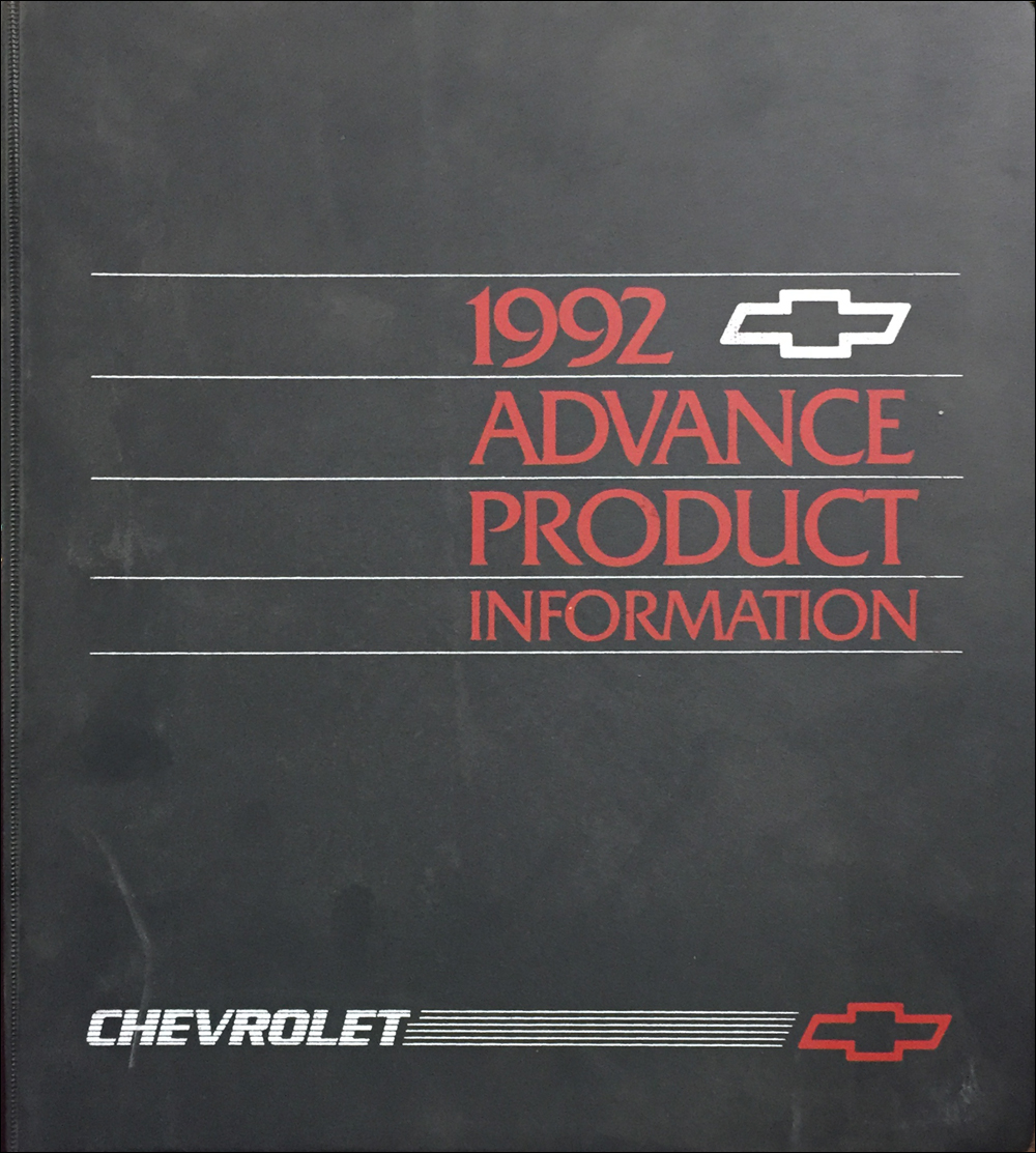 1992 Chevrolet Advance Technical Press Kit Original