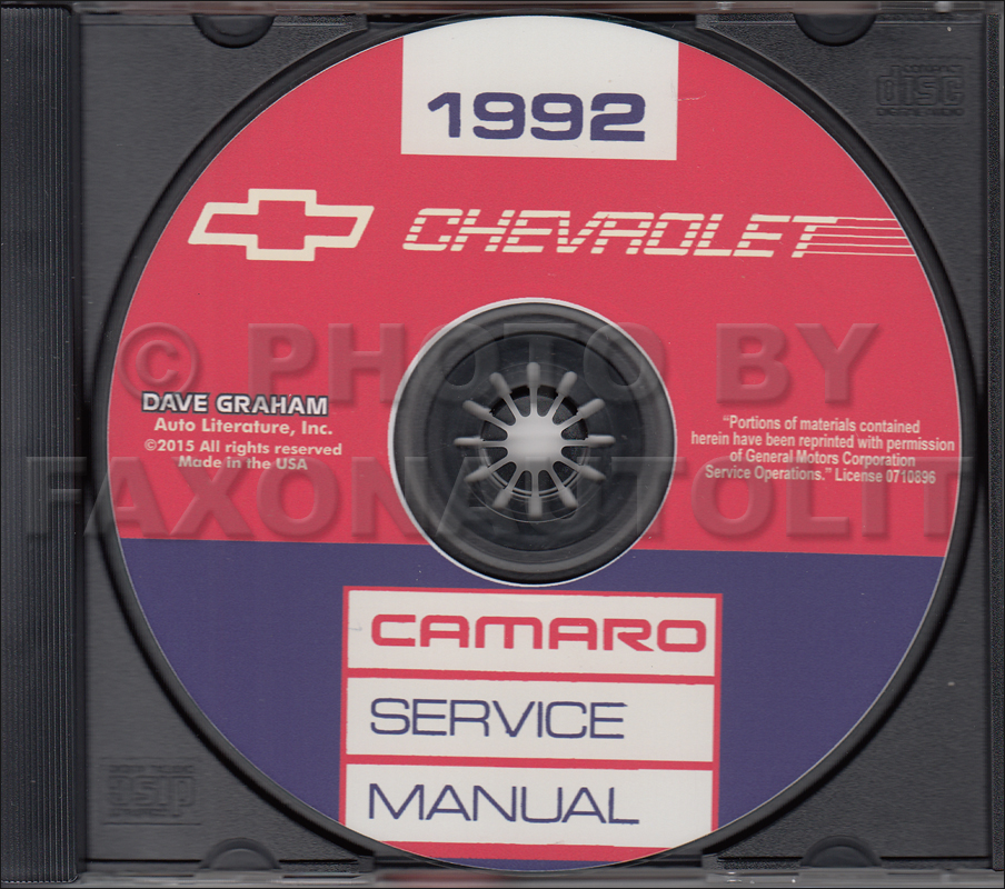 1997 Chevrolet Camaro Pontiac Firebird Repair Shop Manual CD