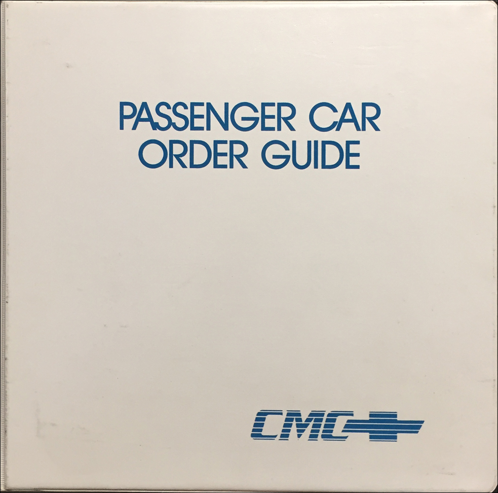 1992 Chevrolet Order Guide Dealer Album Original