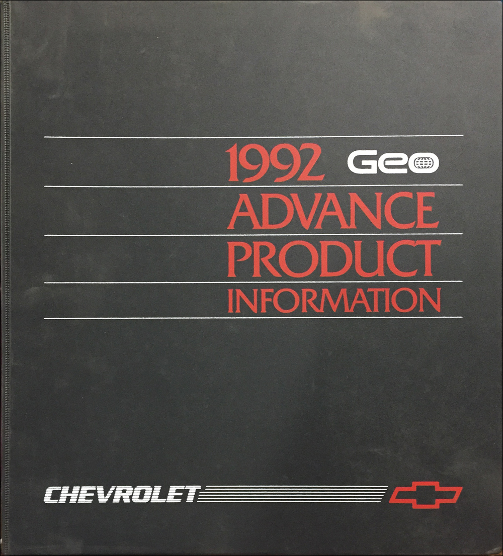 1992 Geo Advance Technical Press Kit Original
