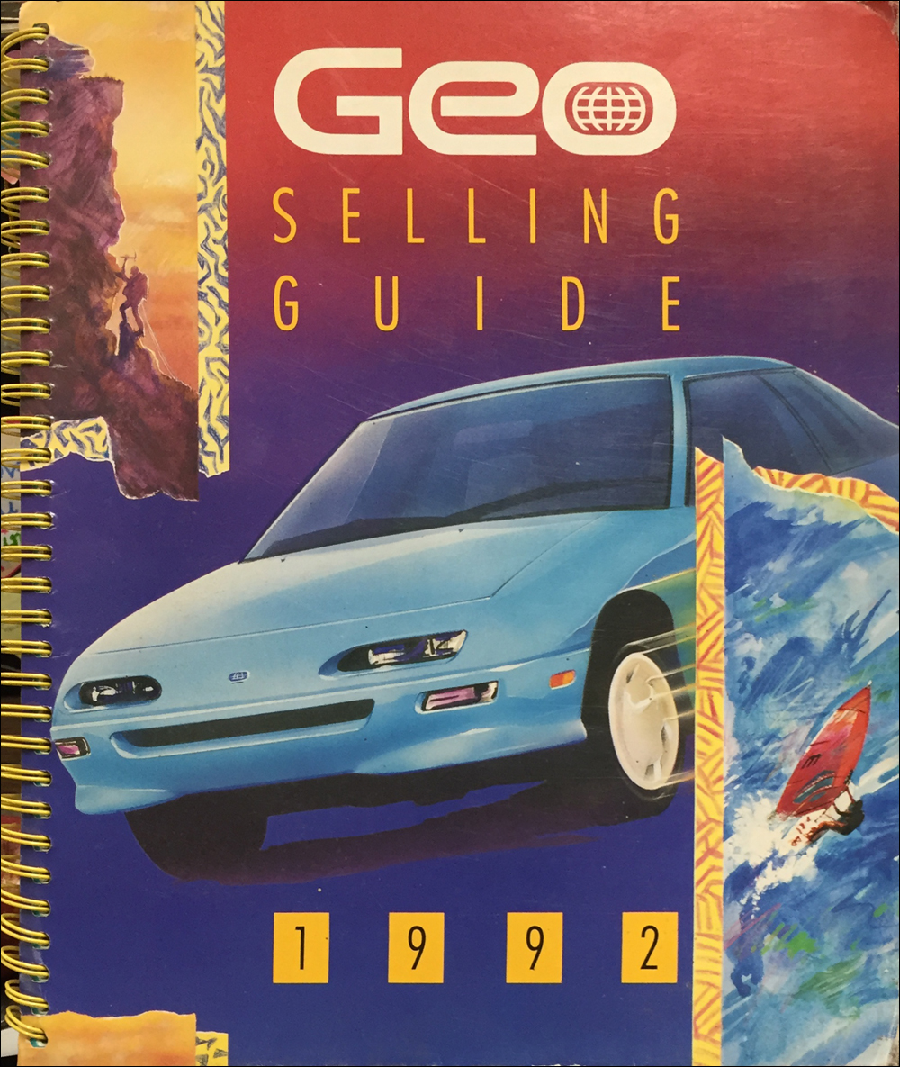 1992 Geo Color & Upholstery Dealer Album/Data Book Original
