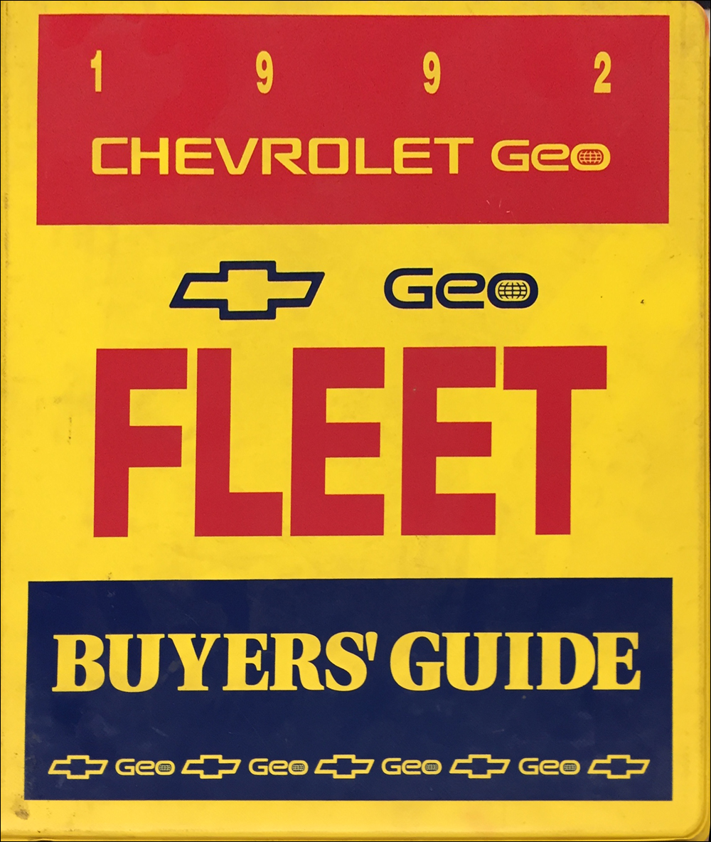 1992 Chevrolet Fleet Buyer's Guide Dealer Album Original