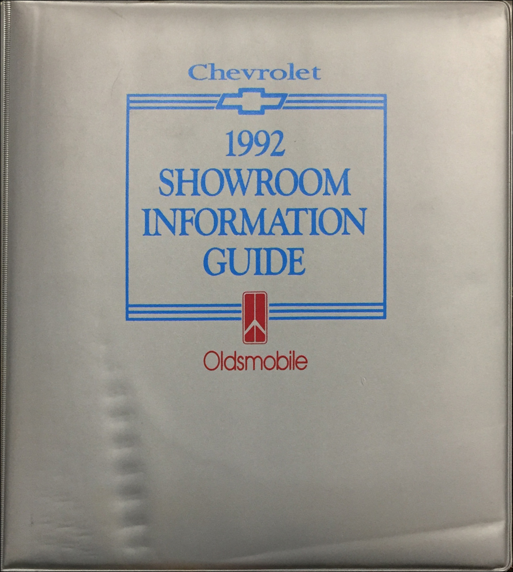 1992 Oldsmobile Chevrolet Color & Upholstery Dealer Album/Data Book Original CANADIAN