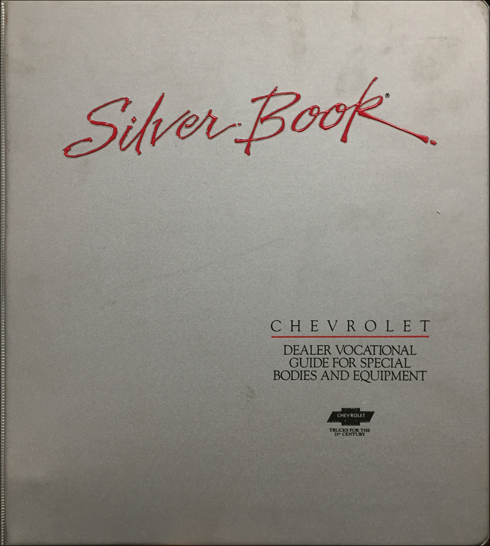 1992 Chevrolet Truck Silver Book Special Equipment Dealer Album