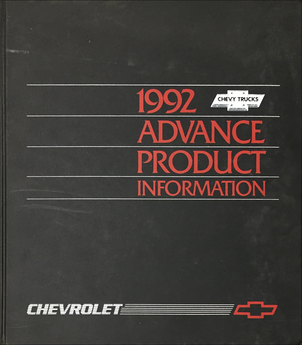 1992 Chevrolet Truck Advance Technical Press Kit Original