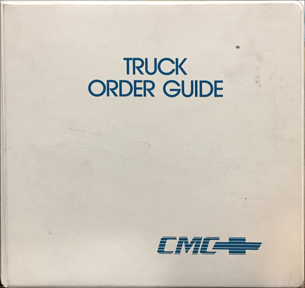 1992 Chevrolet Truck Order Guide Dealer Album Original