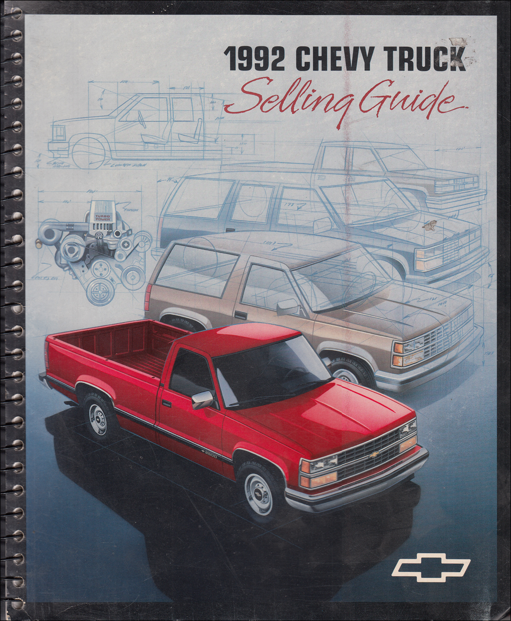 1992 Chevrolet Truck Selling Guide Sales Training Album Original