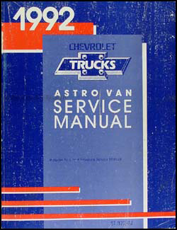 1992 Chevrolet Astro Van Shop Manual Original