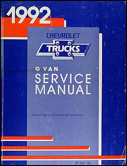 1992 Chevrolet G Van Repair Manual Original