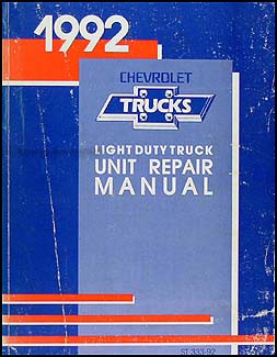 1992 Chevy 1/2, 3/4, & 1 ton Truck Overhaul Manual Original