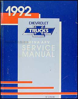 1992 Chevy Lumina APV Minivan Repair Manual Original