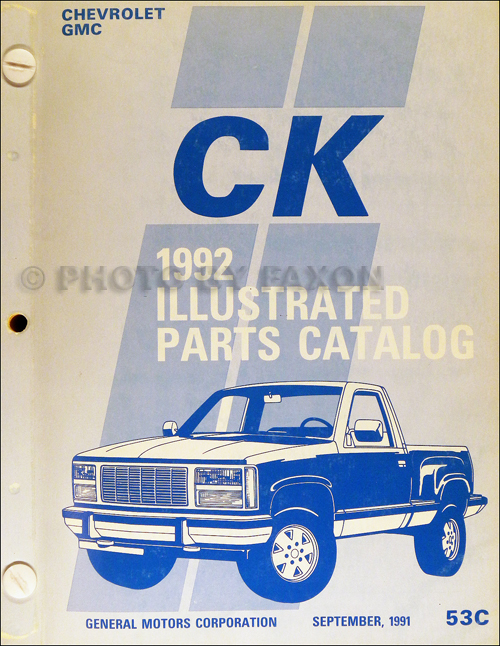 1992 Chevy C  K Pickup  Suburban  Blazer Wiring Diagram Manual Original