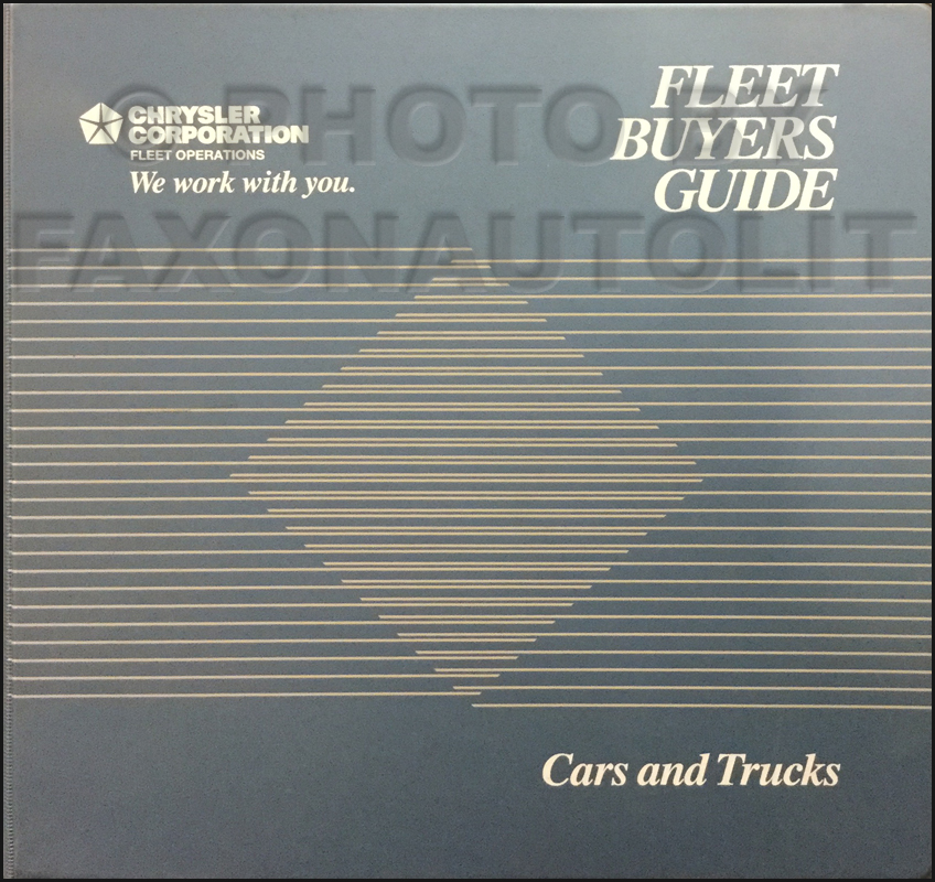 1992 MoPar Fleet Buyer's Guide Original