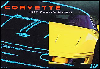 1992 Chevy Corvette Owner's Manual Original