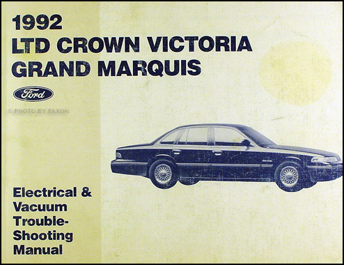 1992 ford crown victoria mercury grand marquis wiring diagram original rh faxonautoliterature com