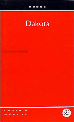 1992 Dodge Dakota Pickup Truck Owner's Manual Original