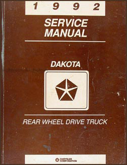1992 Dodge Dakota Repair Manual Original
