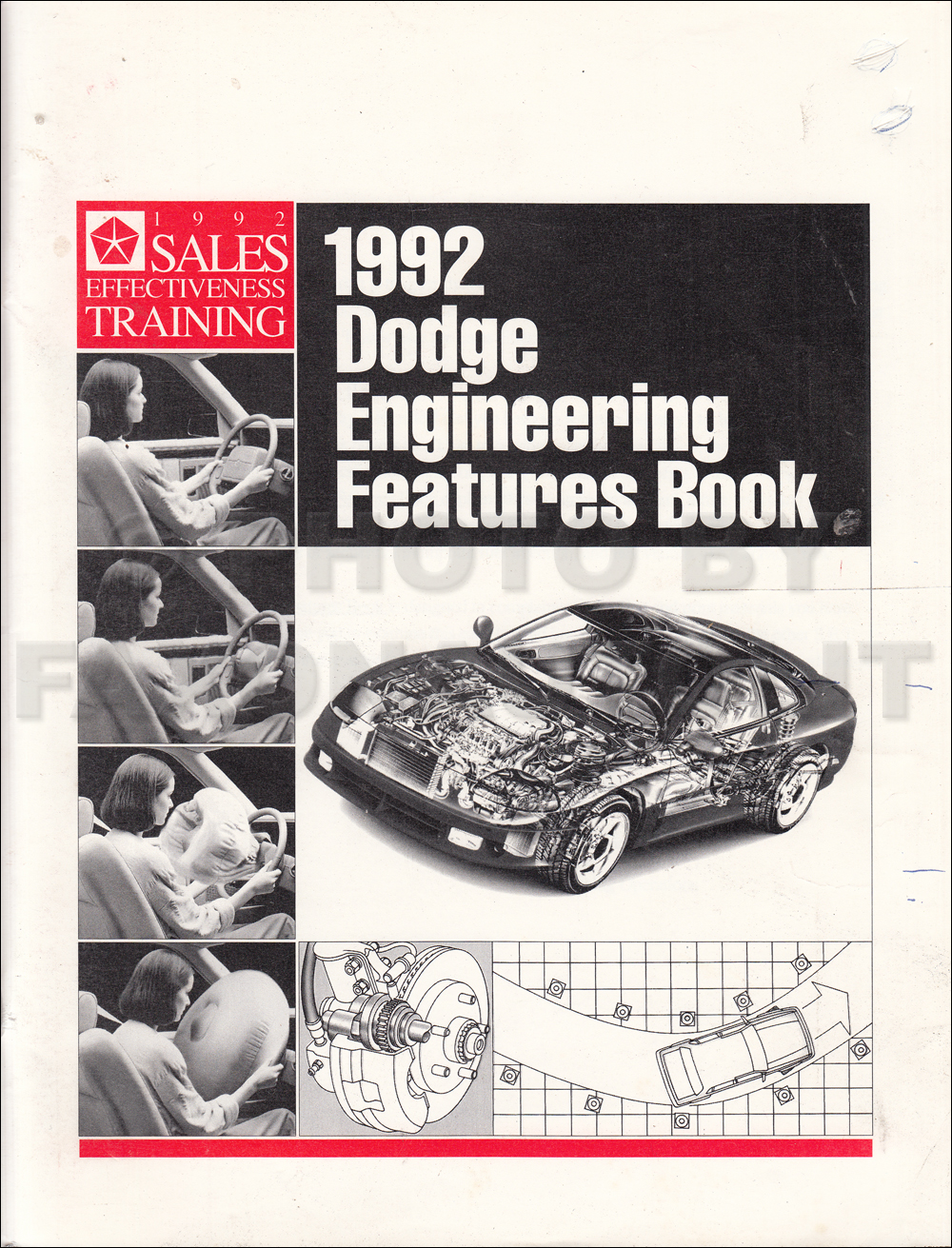 1992 Dodge Engineering Features Manual Original