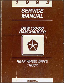 1992 Dodge Pickup Truck & Ramcharger Repair Shop Manual Original