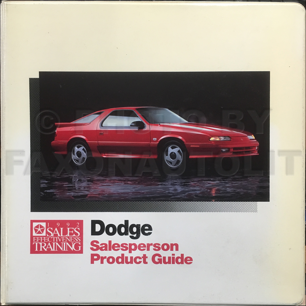 1992 Dodge Salesperson Product Guide Album Original