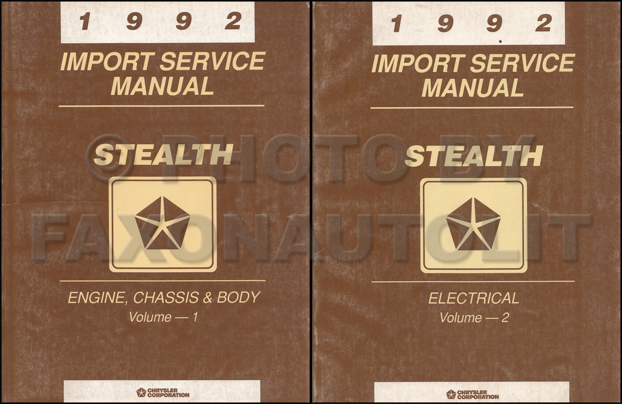 1992 Dodge Stealth Repair Shop Manual Original Set ES R/T and Turbo