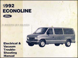 1992 ford econoline van club wagon electrical. Black Bedroom Furniture Sets. Home Design Ideas