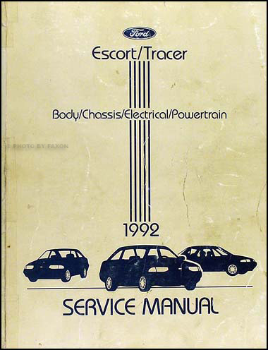 1992 Ford Escort & Mercury Tracer Shop Manual Original