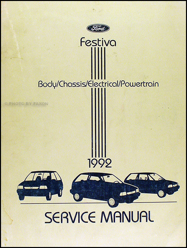 1992 Ford Festiva Shop Manual Original