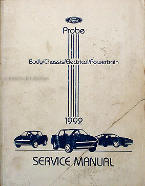 1992 Ford Probe Original Repair Manual GL LX GT