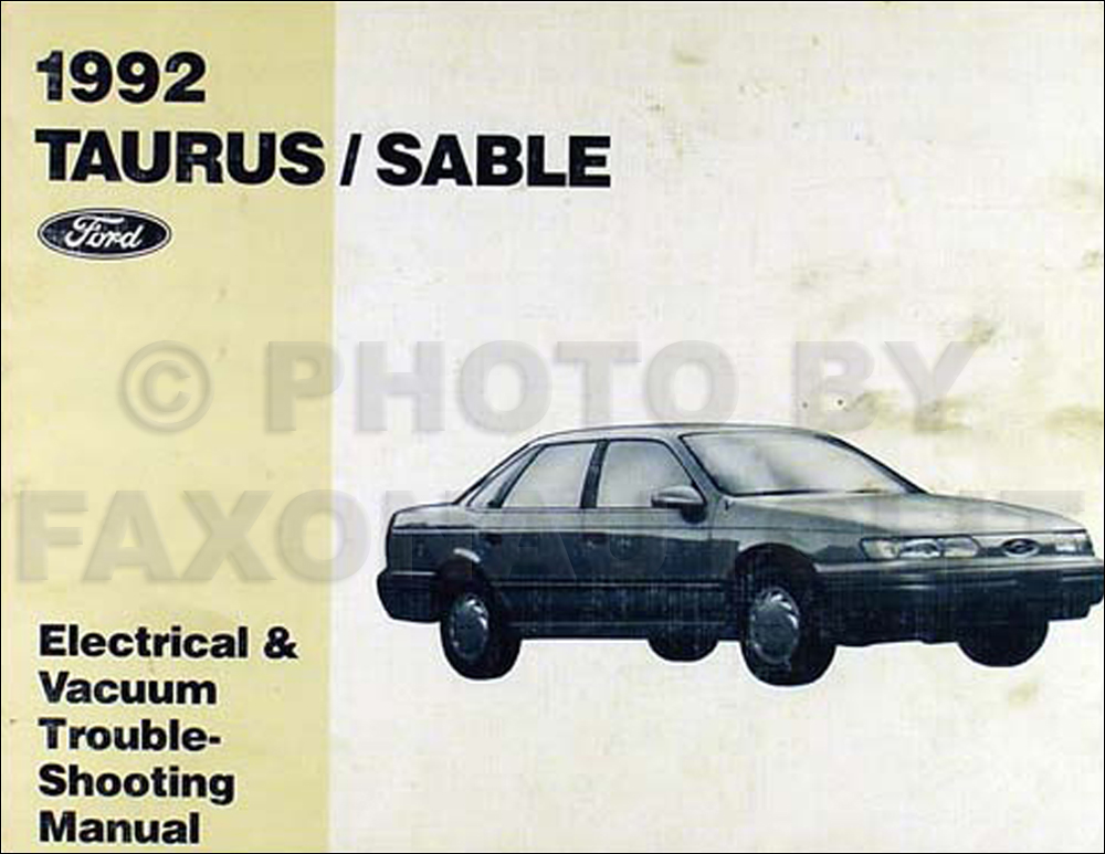 1992 Ford Taurus and Mercury Sable Electrical Troubleshooting Manual