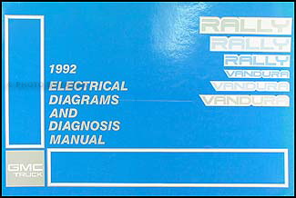1992 GMC G Van/Vandura Wiring Diagram Manual Original