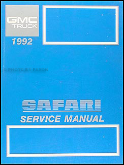 1992 gmc safari van repair shop manual original 95 GMC Wiring Diagram